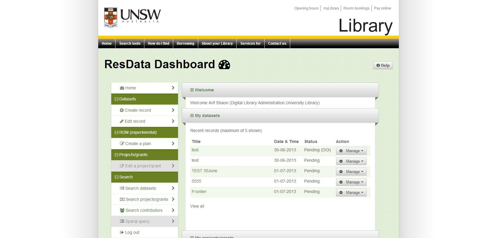 Download web tool or web app UNSW Metadata Stores (ResData) to run in Linux online