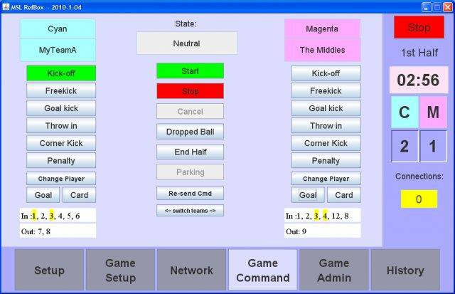 Download web tool or web app RoboCup MSL refbox to run in Linux online