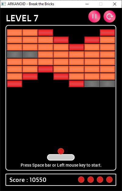 Download web tool or web app Arkanoid - Break the Bricks Game to run in Linux online