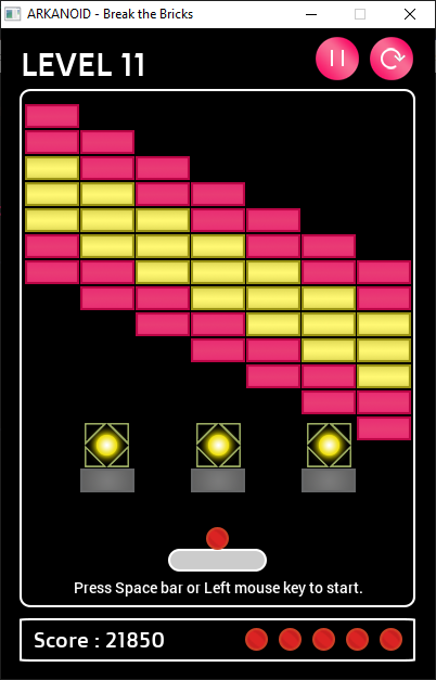 Download web tool or web app Arkanoid - Break the Bricks Game to run in Windows online over Linux online