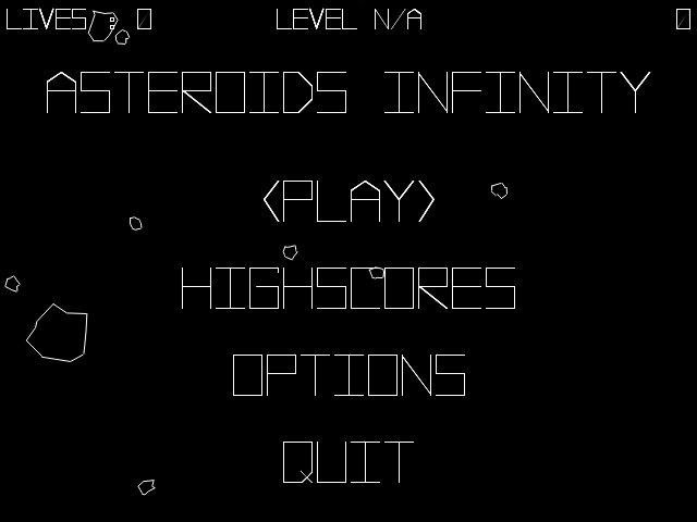 Download web tool or web app Asteroids Infinity to run in Linux online