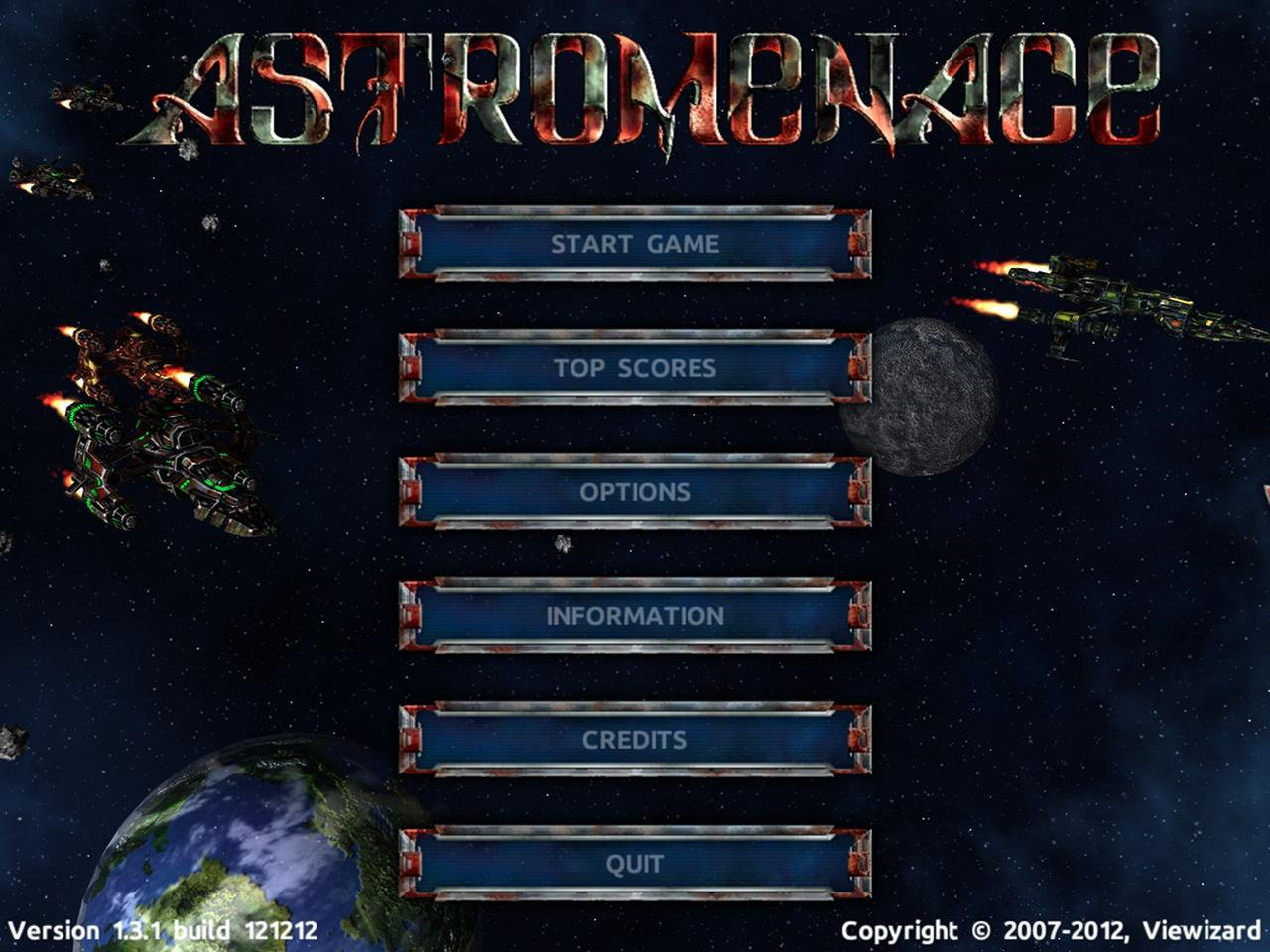 Download web tool or web app AstroMenace to run in Windows online over Linux online