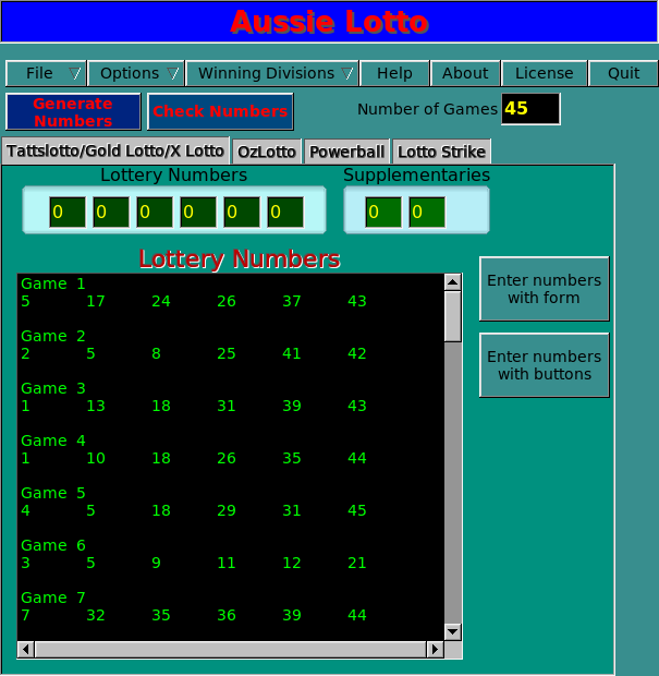 Download web tool or web app Aussie Lotto to run in Linux online