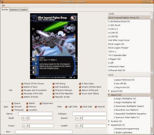 Download web tool or web app Battle Star Wars TCG to run in Linux online