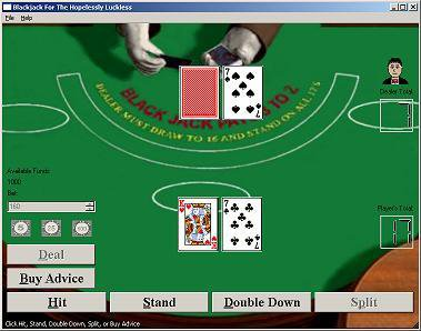 Download web tool or web app Blackjack For The Hopelessly Luckless to run in Windows online over Linux online