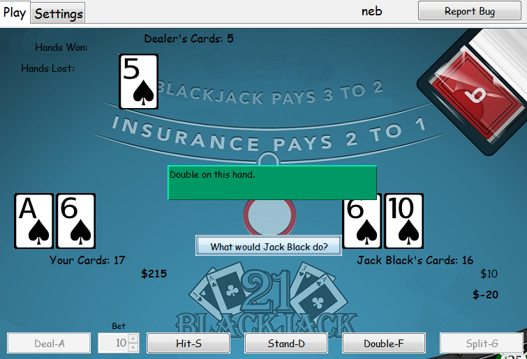Download web tool or web app Blackjack Game with AI to run in Linux online
