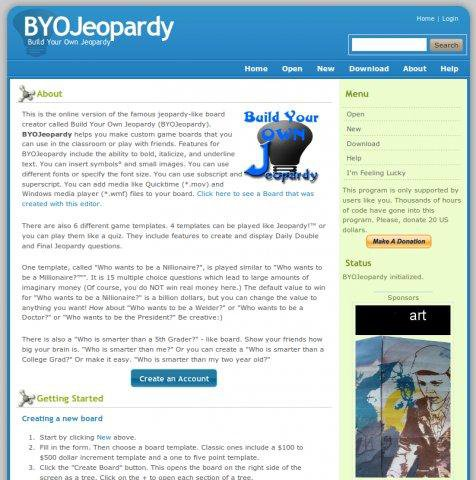Download web tool or web app Build Your Own Jeopardy to run in Linux online