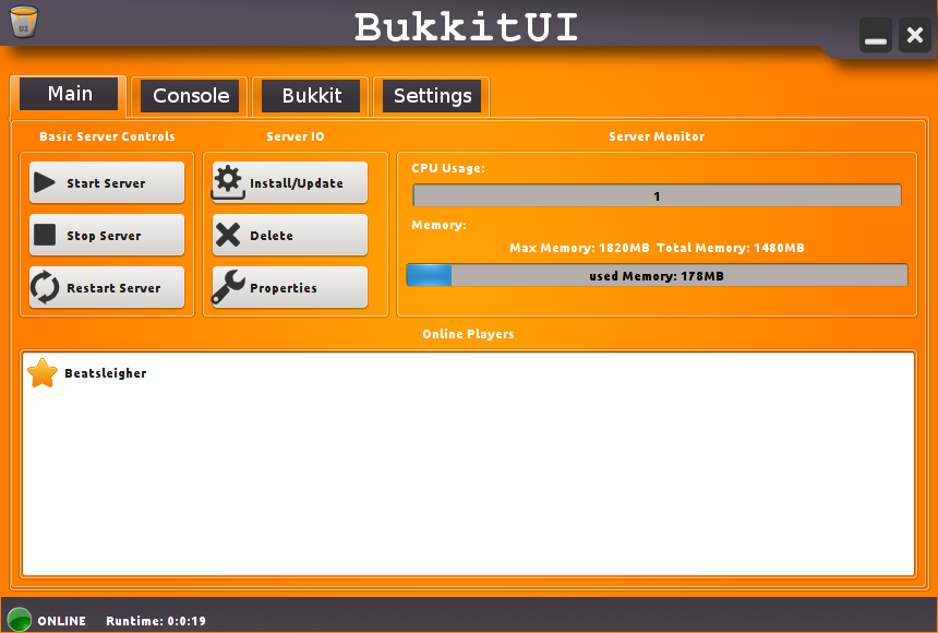 Download web tool or web app BukkitUI to run in Linux online