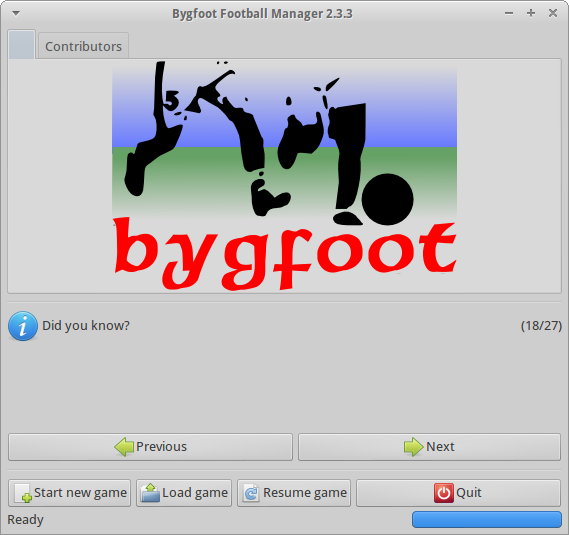 Download web tool or web app Bygfoot Football Manager to run in Linux online