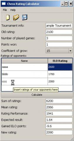 Download web tool or web app Chess Rating Calculator to run in Windows online over Linux online