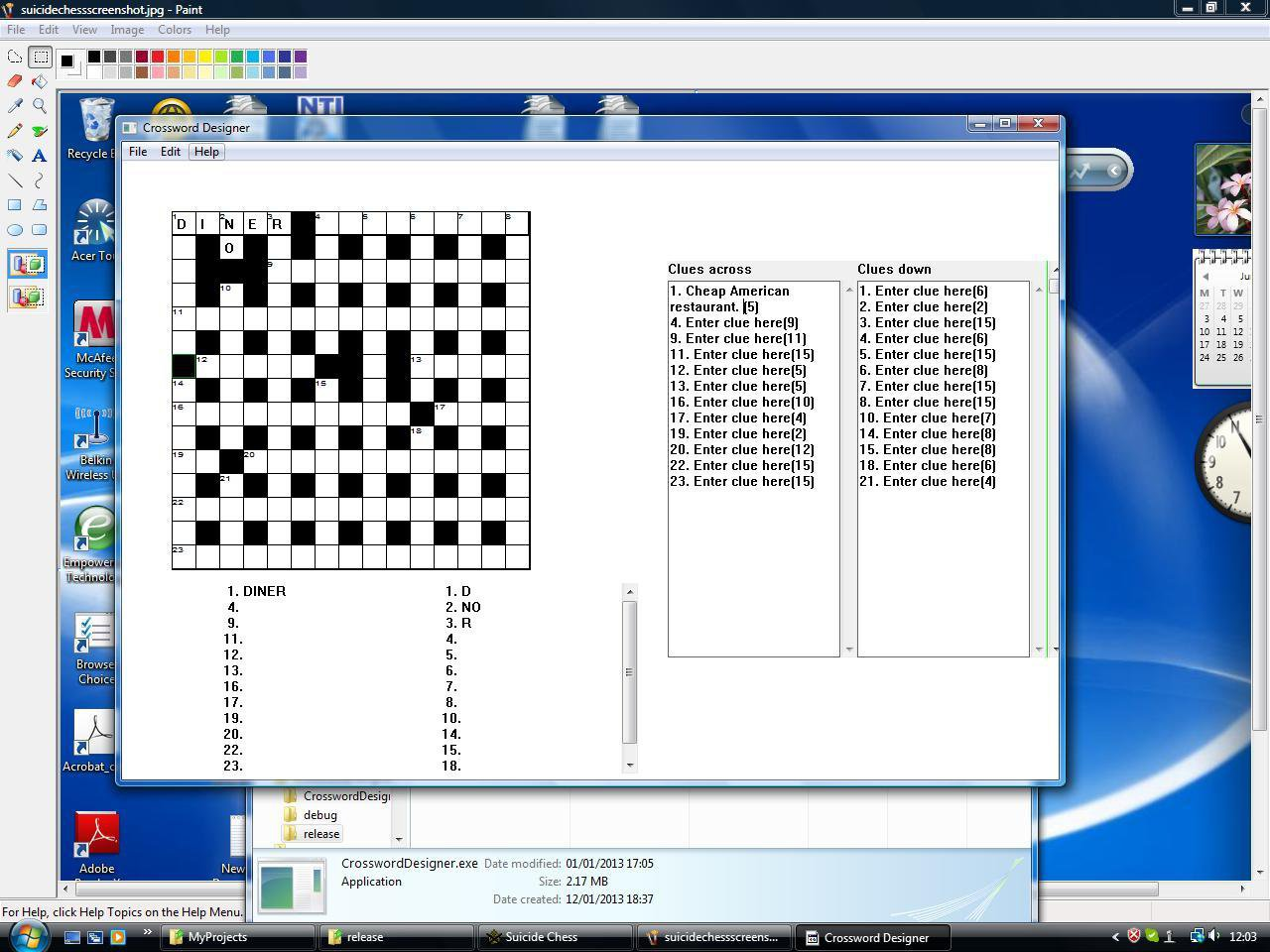 Download web tool or web app Crossword Designer to run in Windows online over Linux online