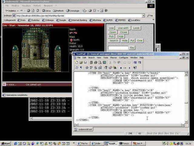Download web tool or web app DimensioneX Multiplayer Game Engine to run in Linux online