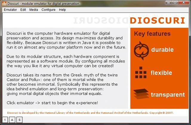 Download web tool or web app Dioscuri - modular emulator to run in Linux online