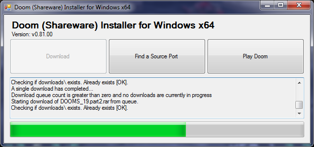 Download web tool or web app Doom Shareware Installer for Windows x64 to run in Windows online over Linux online