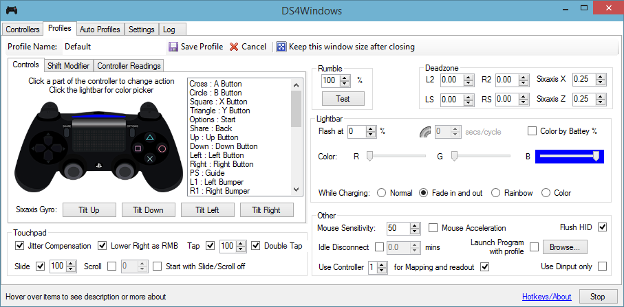 Download web tool or web app DS4Windows to run in Windows online over Linux online