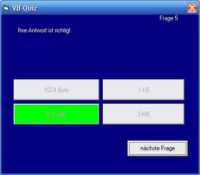 Download web tool or web app easy VB quiz to run in Windows online over Linux online