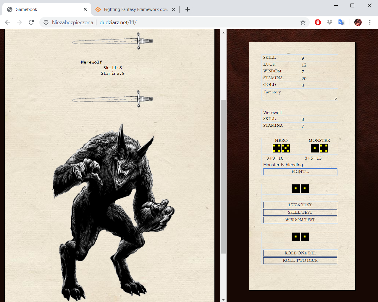 Download web tool or web app Fighting Fantasy Framework to run in Linux online