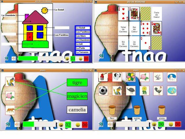 Download web tool or web app Games for French pre-school to run in Linux online