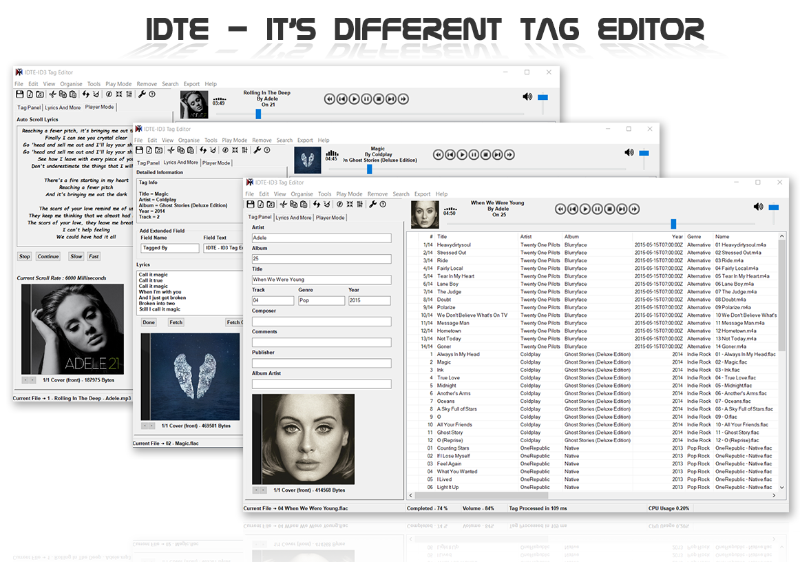 Download web tool or web app IDTE- ID3 Tag Editor to run in Linux online