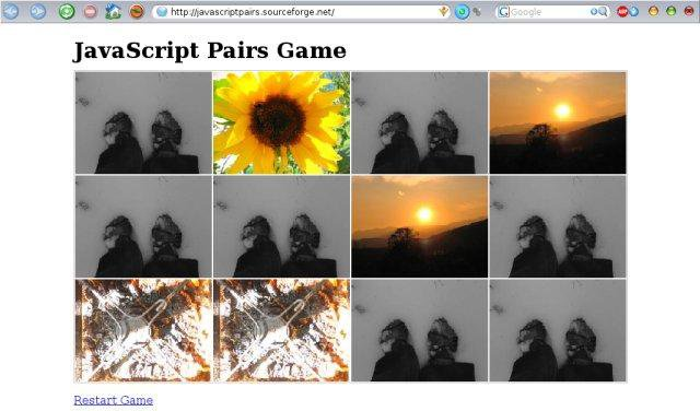 Download web tool or web app JavaScript Pairs Game to run in Windows online over Linux online
