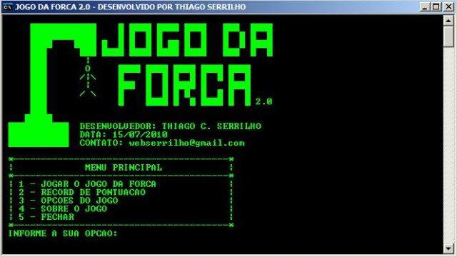 Download web tool or web app Jogo da Forca 2.0 to run in Windows online over Linux online