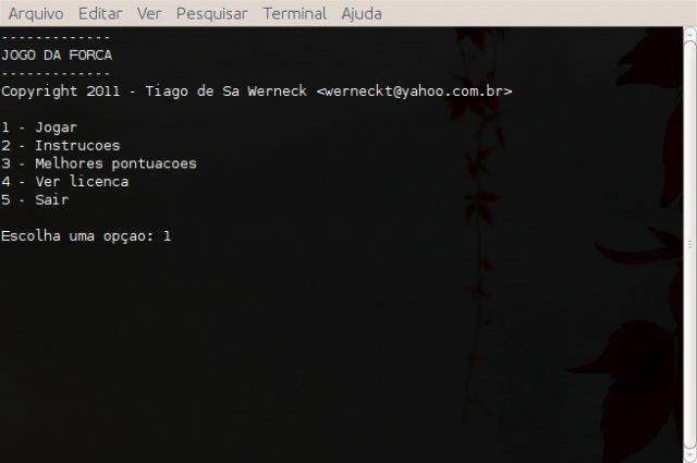 Download web tool or web app Jogo da Forca to run in Linux online