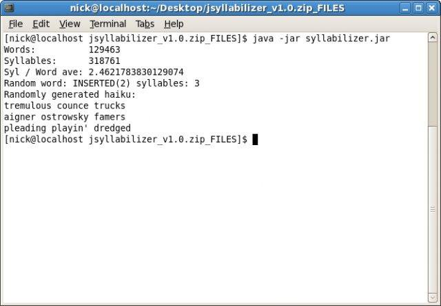 Download web tool or web app jSyllabilizer to run in Linux online