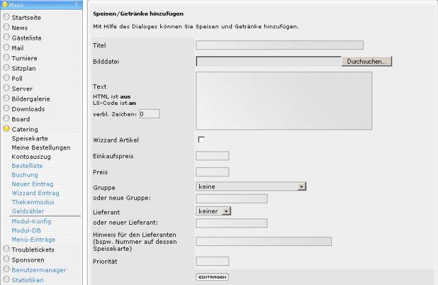 Download web tool or web app LanSuite LanParty Intranet-System to run in Linux online