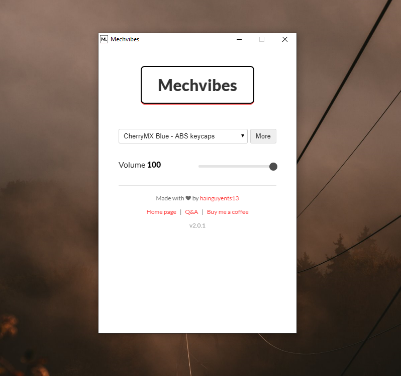 Download web tool or web app Mechvibes to run in Linux online