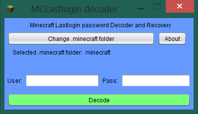 Download web tool or web app Minecraft last login decoder/recovery to run in Linux online