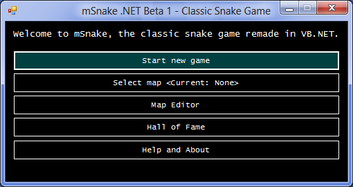 Download web tool or web app mSnake .NET to run in Windows online over Linux online