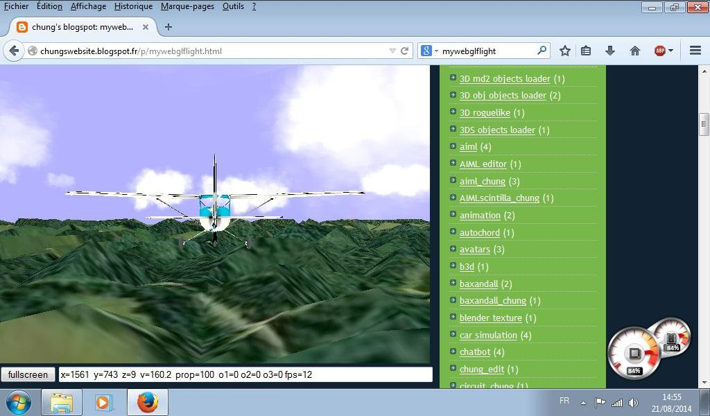 Download web tool or web app mywebglflight_chung to run in Linux online