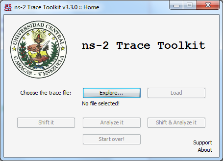 Download web tool or web app ns-2 Trace Toolkit to run in Windows online over Linux online