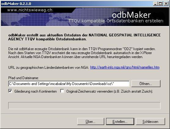 Download web tool or web app odbMaker to run in Windows online over Linux online