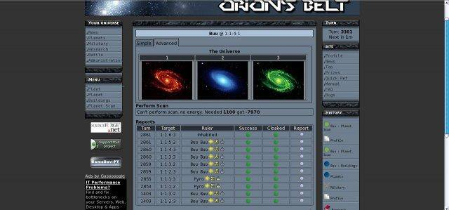 Download web tool or web app Orions Belt to run in Linux online