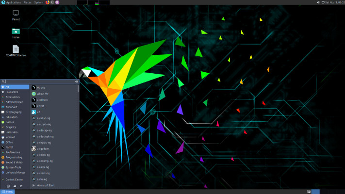 Kostenloses Linux-Hosting basierend auf Parrot Security OS online