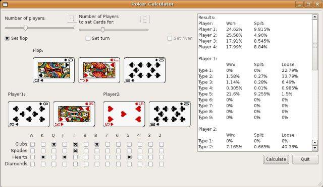Download web tool or web app poker calculator to run in Linux online