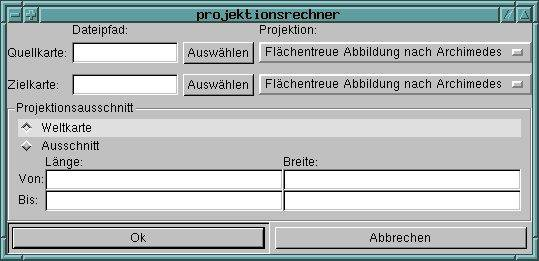 Download web tool or web app projektionsrechner to run in Linux online