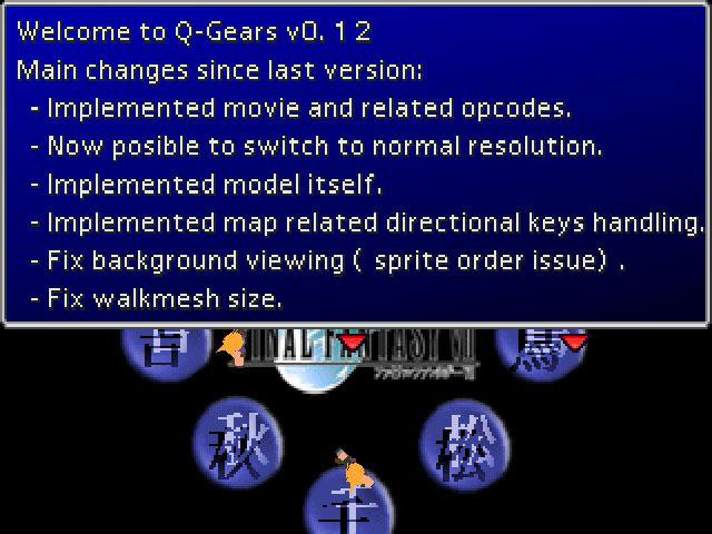 Download web tool or web app Q-Gears : A free Final Fantasy 7 engine. to run in Linux online