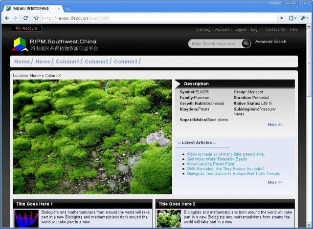 Download web tool or web app ResourceInfo Platform of Moss Plant to run in Windows online over Linux online