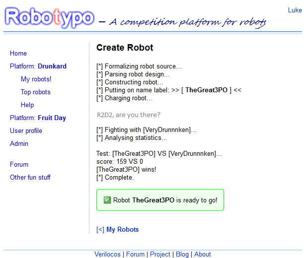 Download web tool or web app Robotypo to run in Linux online