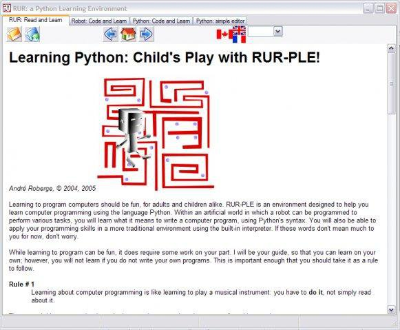 Download web tool or web app RUR: a Python Learning Environment to run in Windows online over Linux online