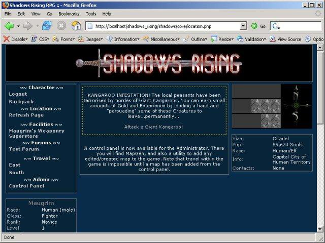 Download web tool or web app Shadows Rising RPG to run in Windows online over Linux online
