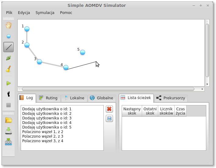Download web tool or web app Simple AOMDV Protocol Simulator to run in Linux online