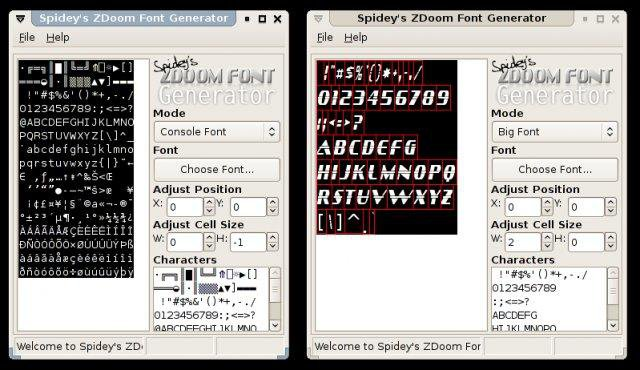 Download web tool or web app Spideys ZDoom Font Generator to run in Linux online