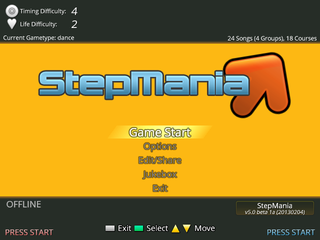 Download web tool or web app StepMania to run in Windows online over Linux online