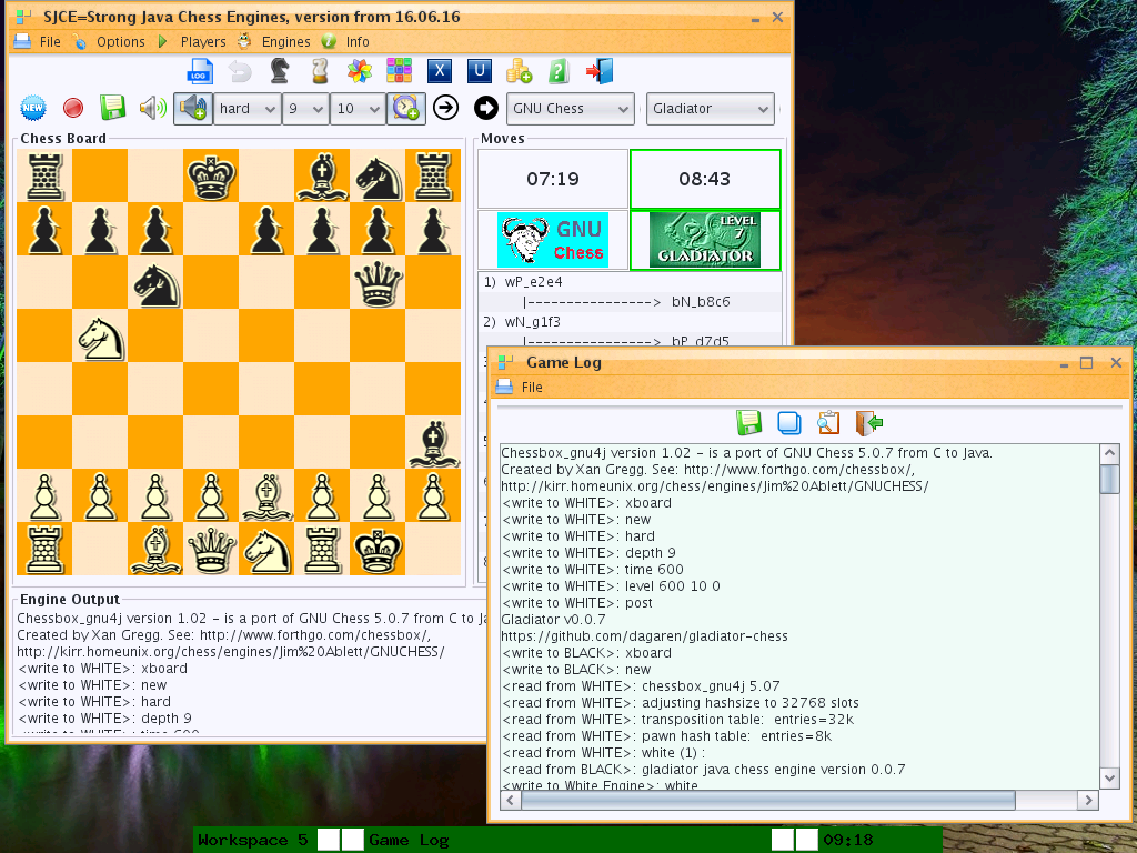 Download web tool or web app Strong Java Chess Engines Game to run in Linux online