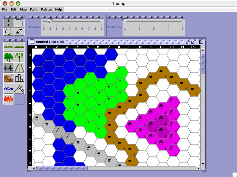 Download web tool or web app Thump (BattleTech MUX Map Creator) to run in Linux online