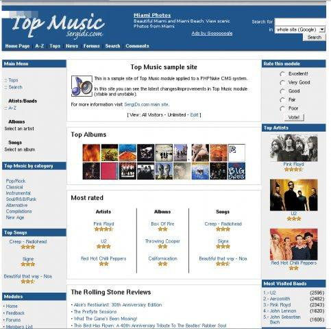 Download web tool or web app Top Music module to run in Linux online