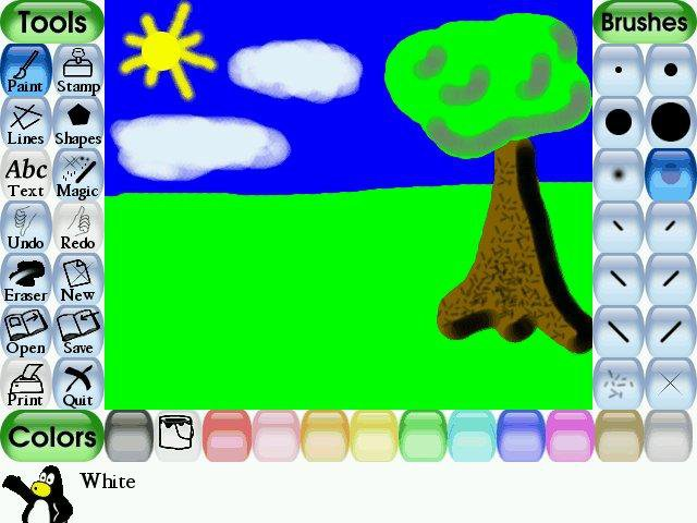 Download web tool or web app Tux Paint to run in Windows online over Linux online